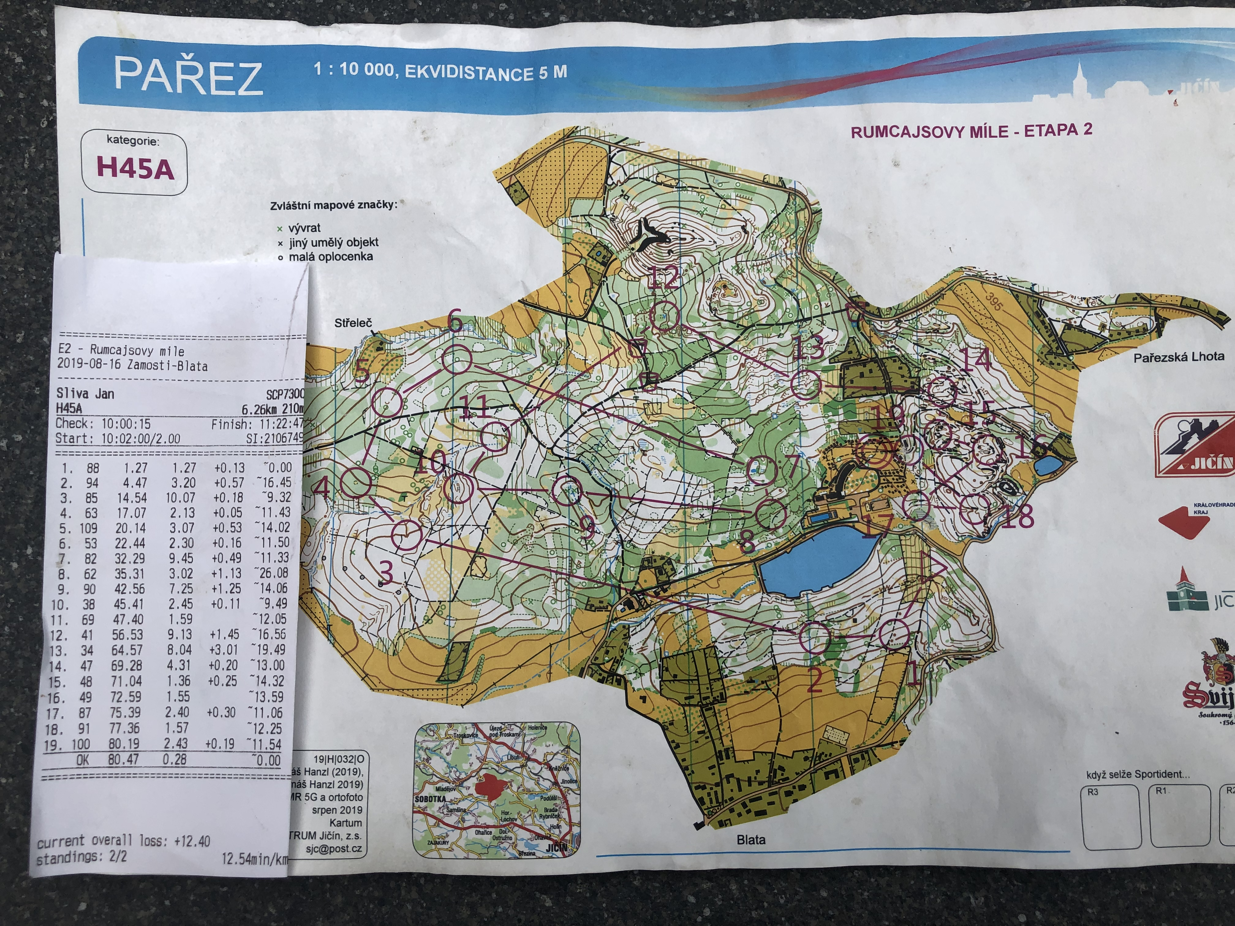 Rumcajsovy mile - stage 2. H45A (17/08/2019)